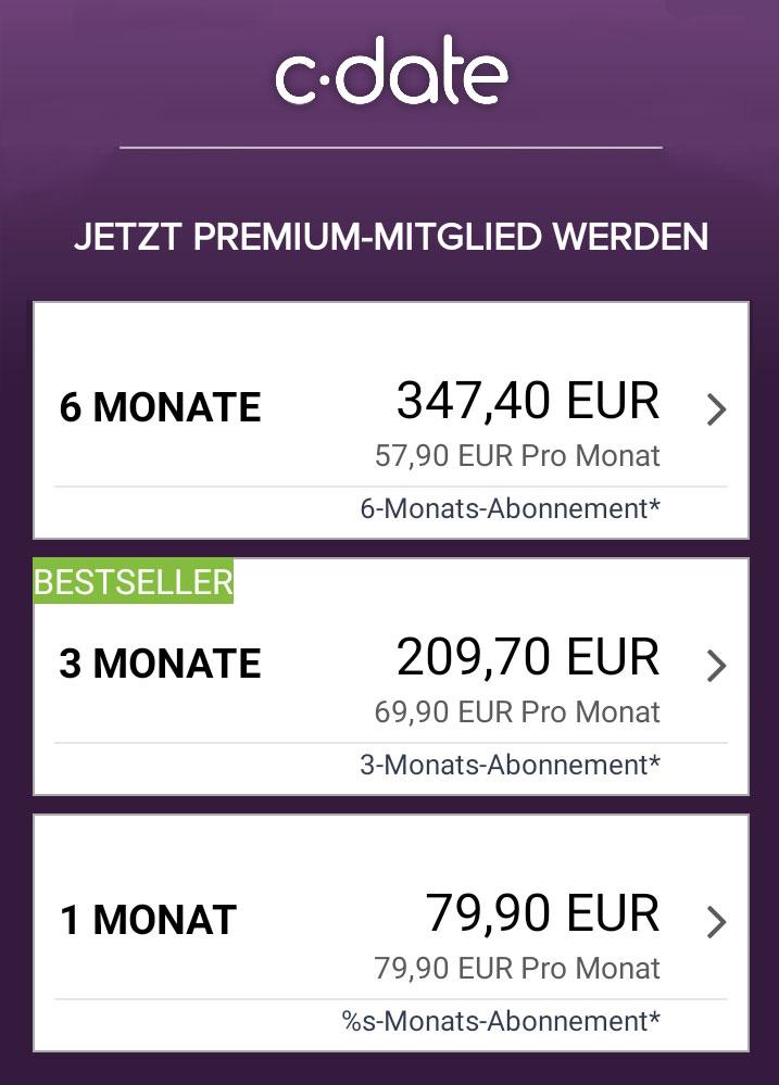 C-Date App Preise
