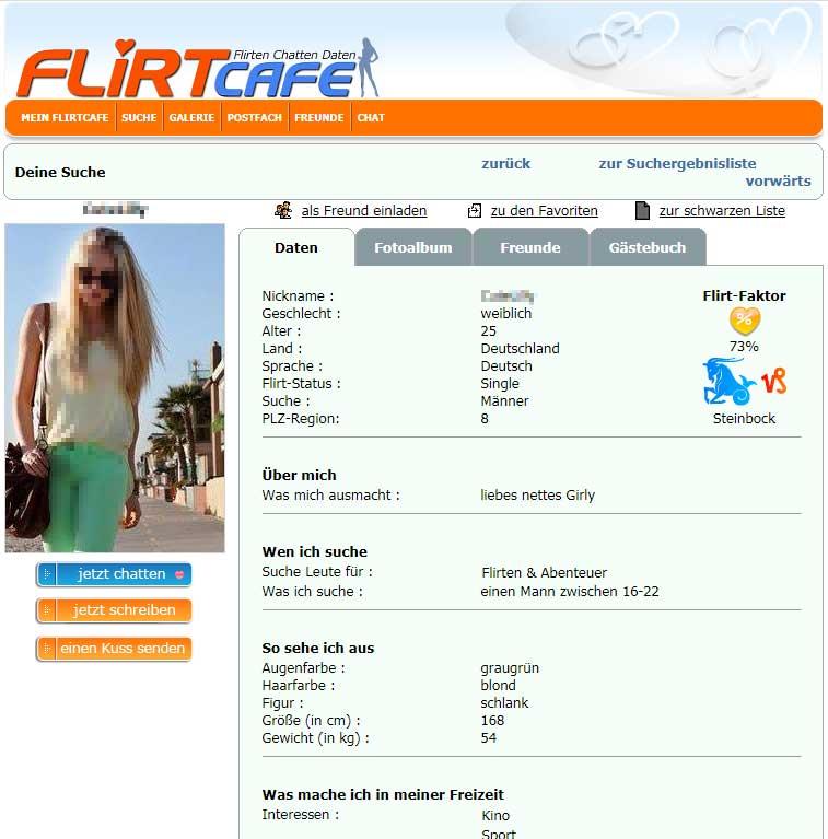 Flirtcafe online kostenlos